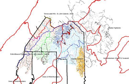 St John River Maine Map.Upper St John River Organization